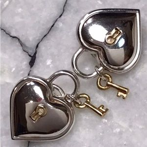 Tiffany and Co. 18kt Gold & Silver Earrings